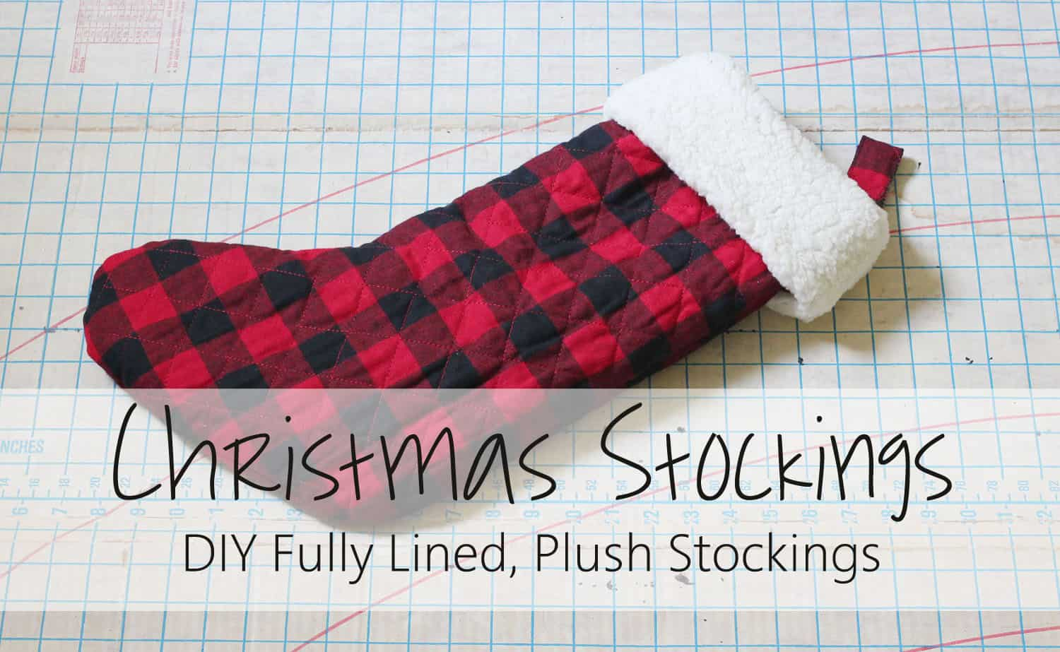 christmas stocking tutorial - Plaid Christmas Stockings