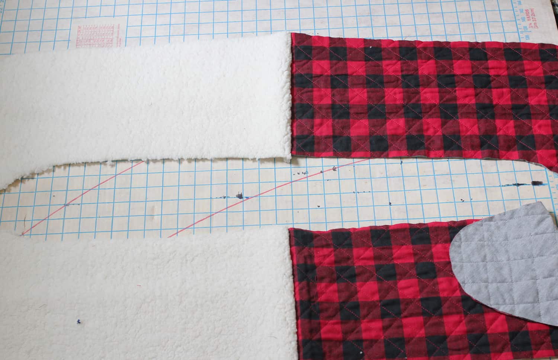 Front Back Xmas Stocking