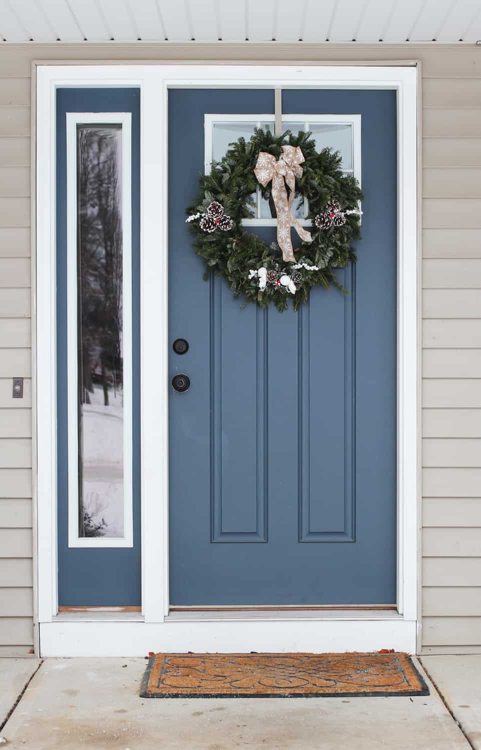 Christmas Wreath Front Door