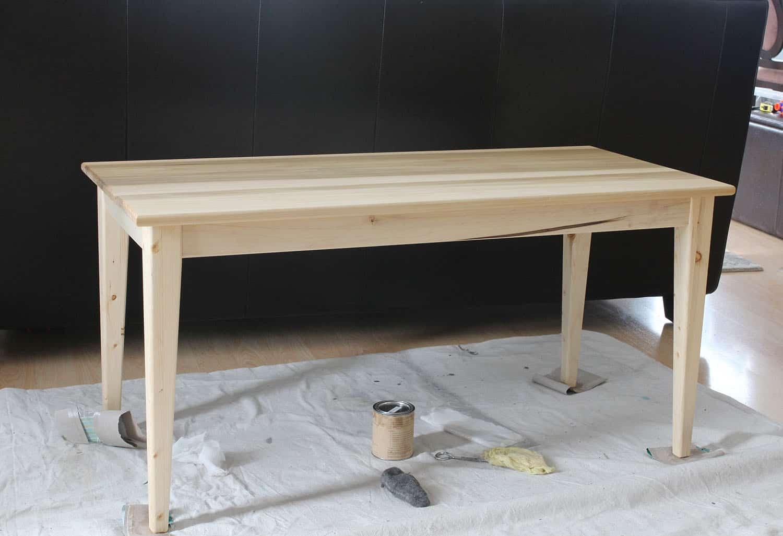 Poplar Schoolroom Table
