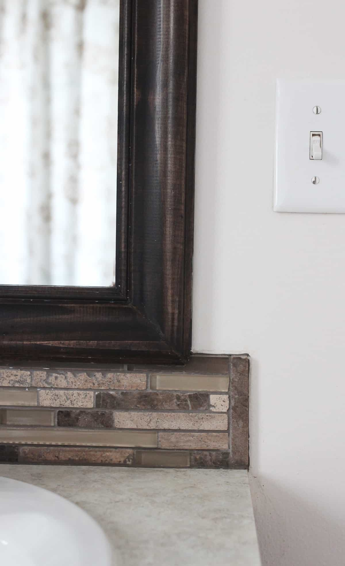 Framed Mirror Backsplash