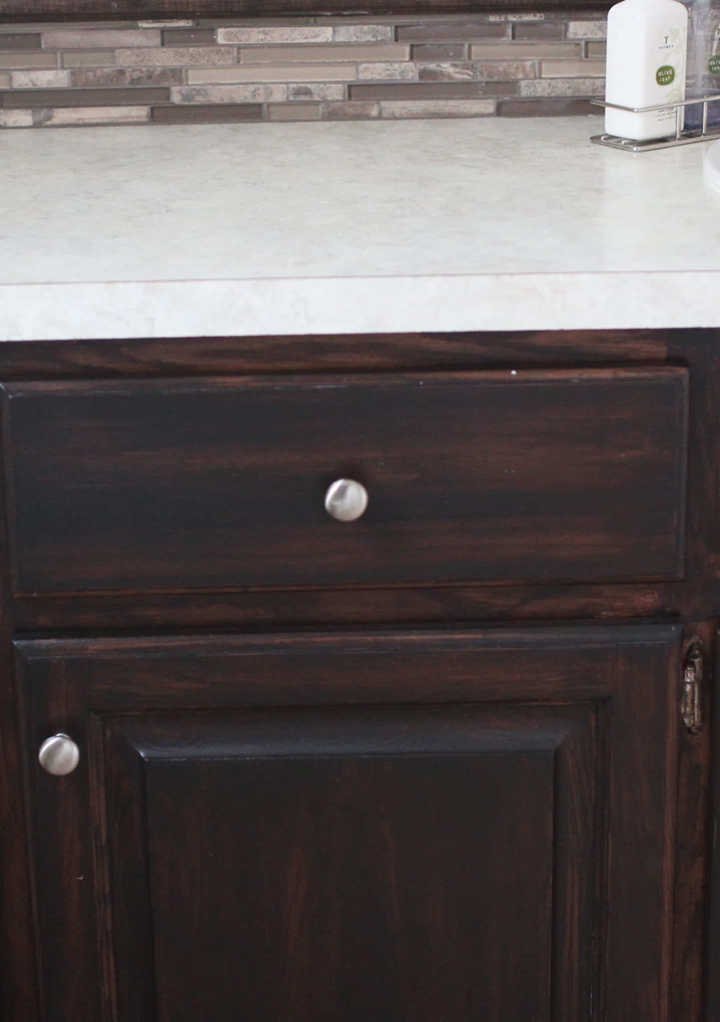 Re-Stained Oak Vanity