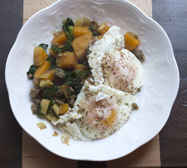 Breakfast Hash Sausage Egg