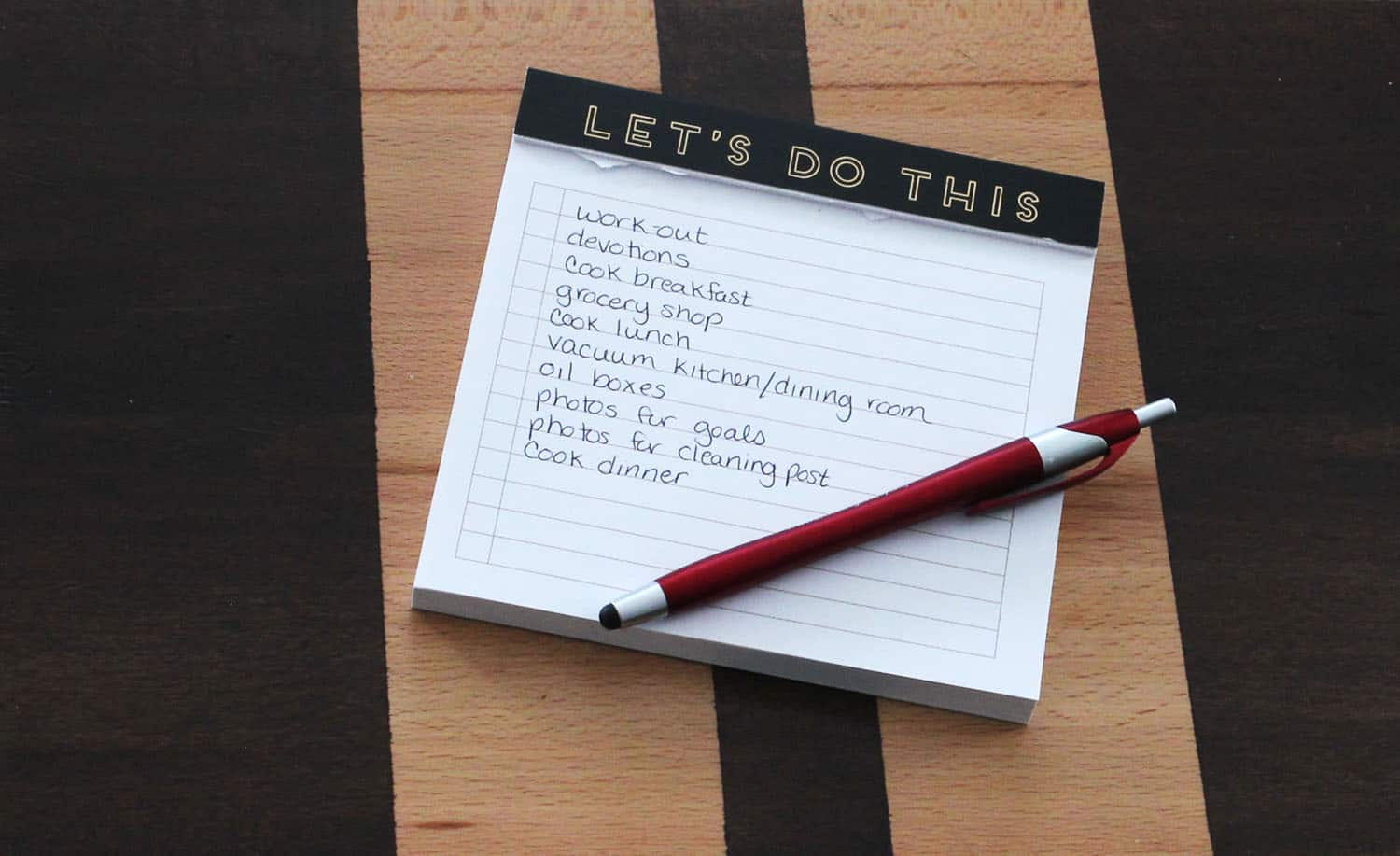 prioritized to do list