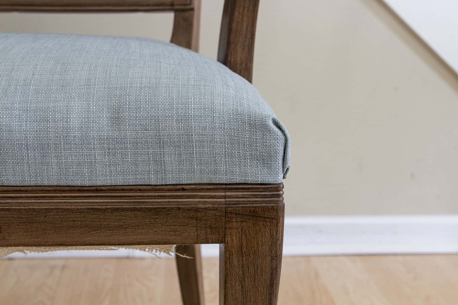 Reupholstered Wood Side Chair | Part 3 – Flexible Metal Tack Strips