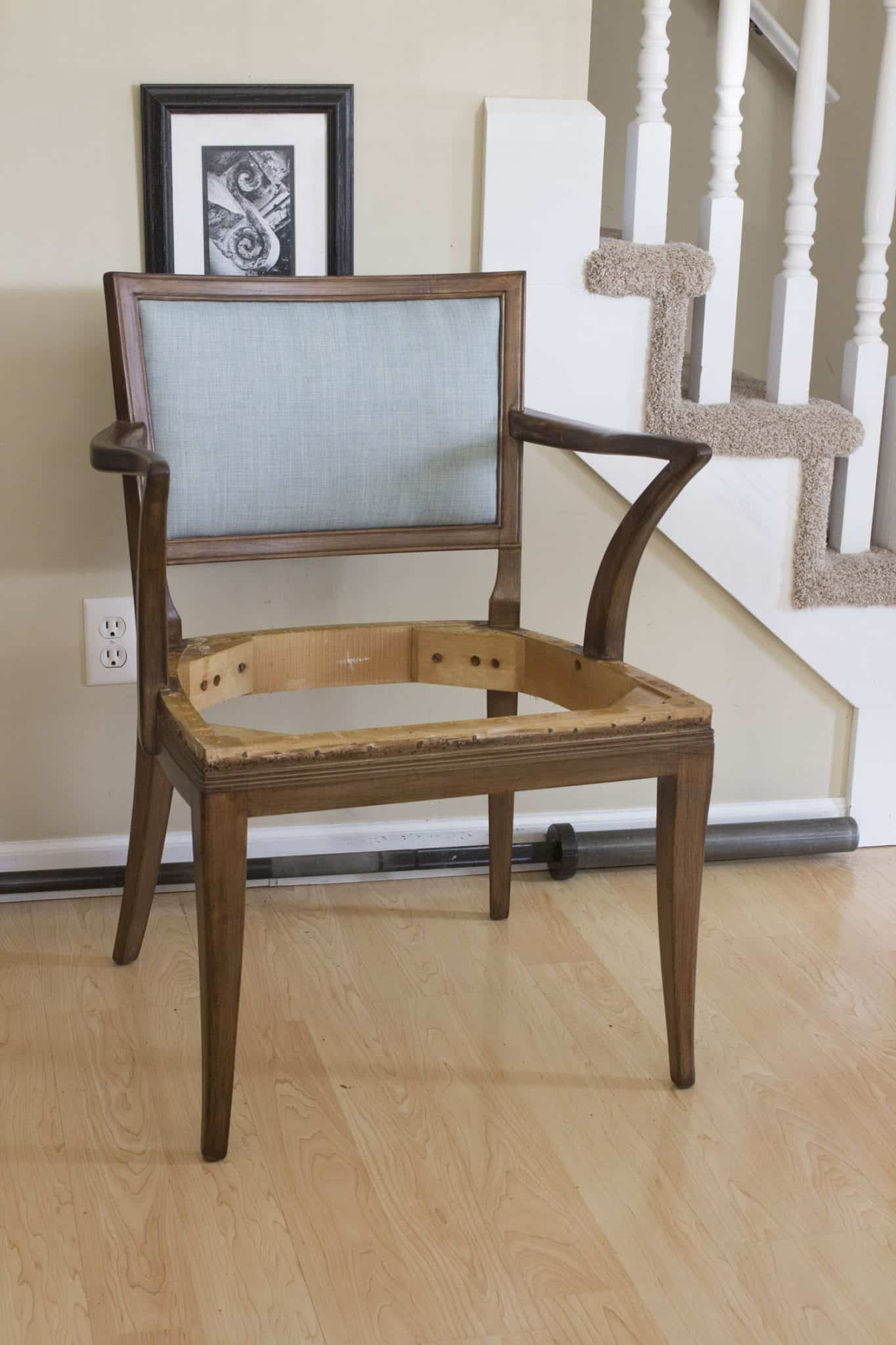 Reupholstered Side Chair Start