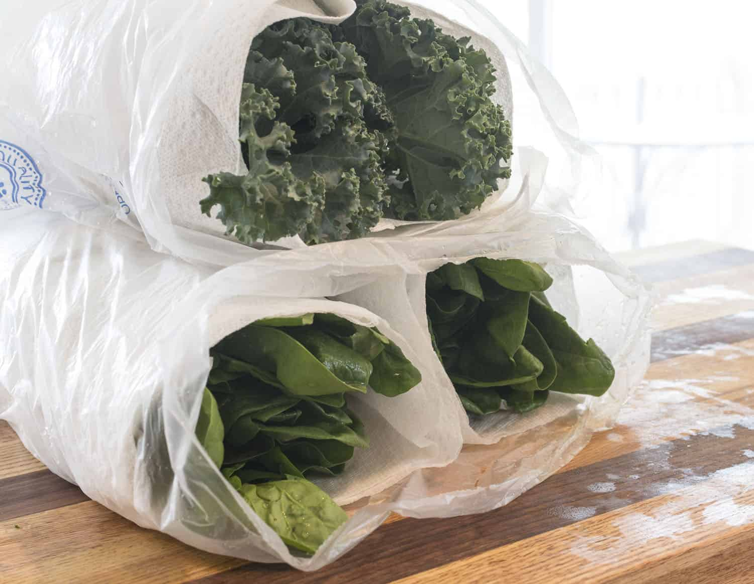 Greens Wrapped Bagged