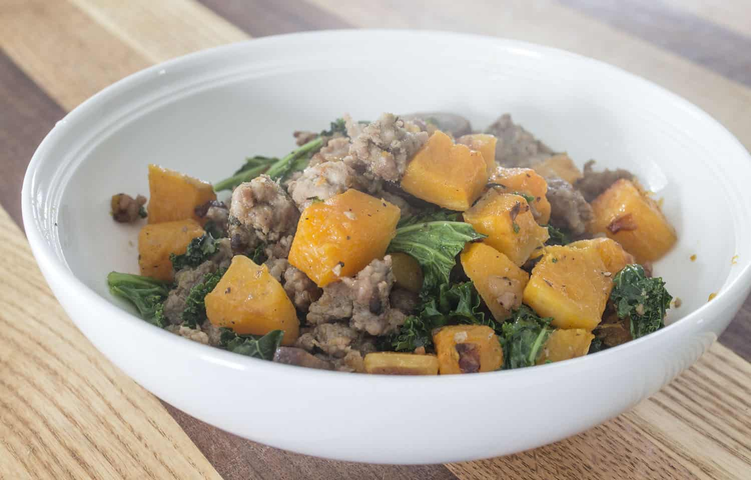 Hash with Butternut Squash