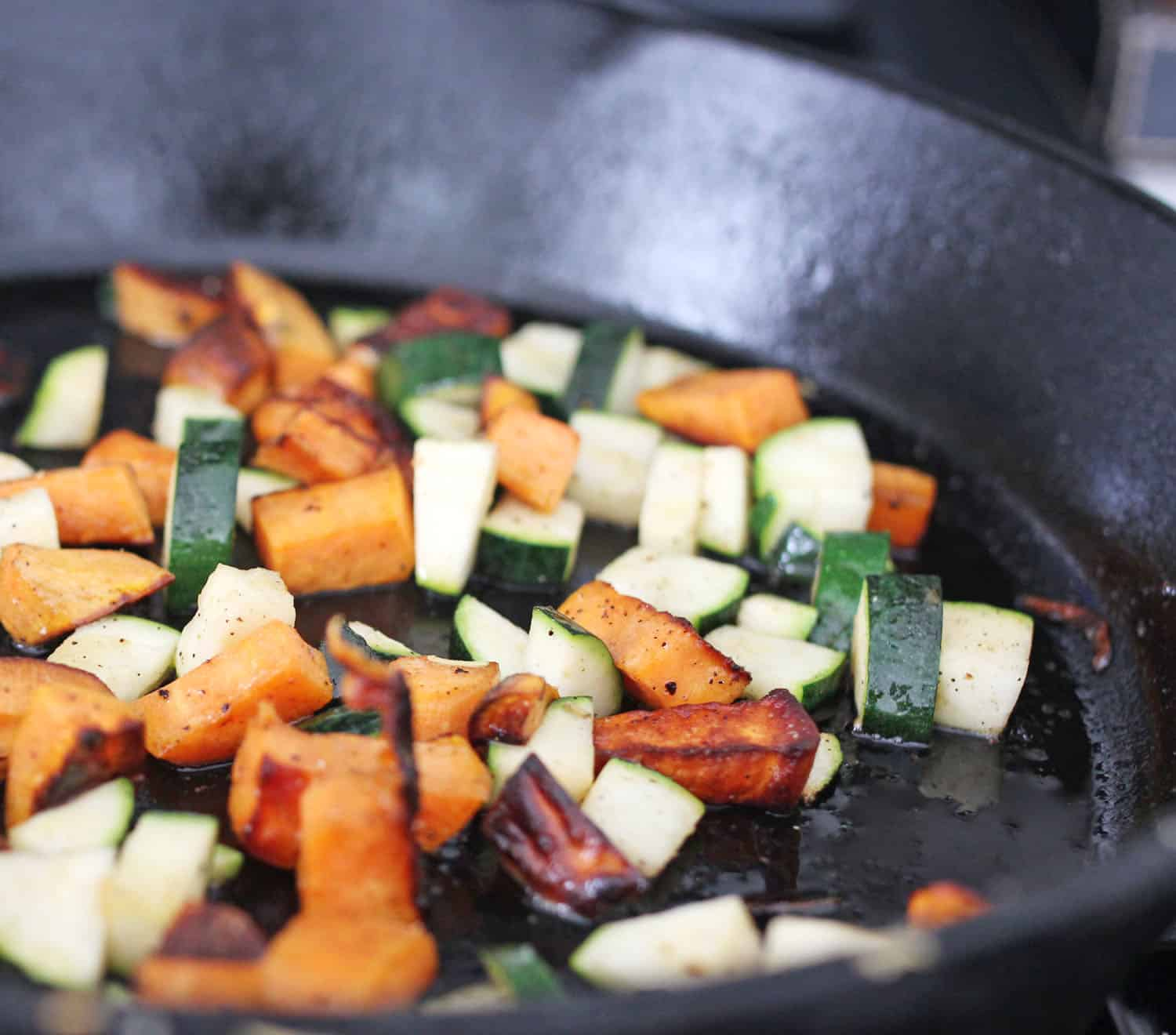 hash cooking vegetables