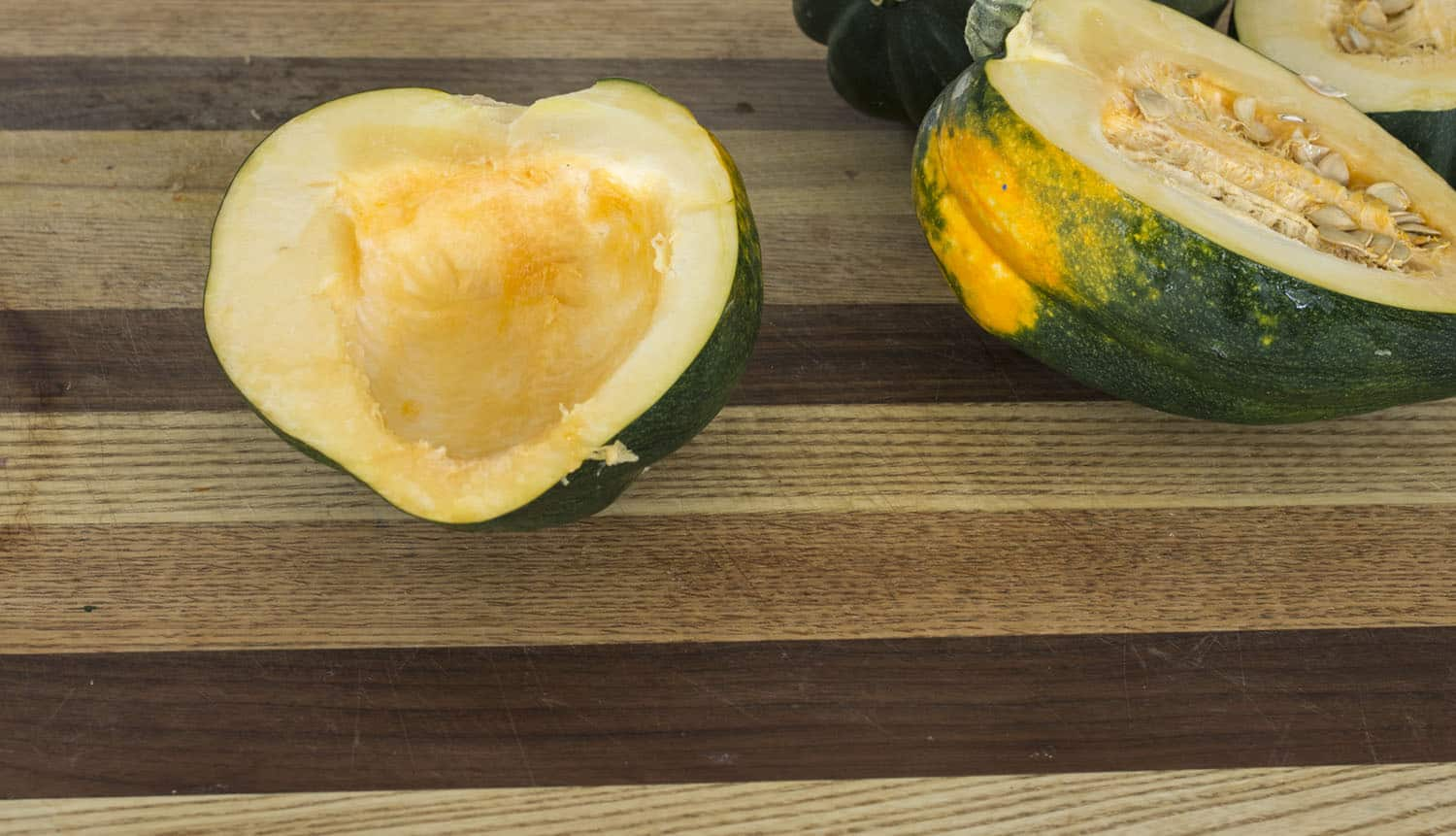 acorn squash halved seeded