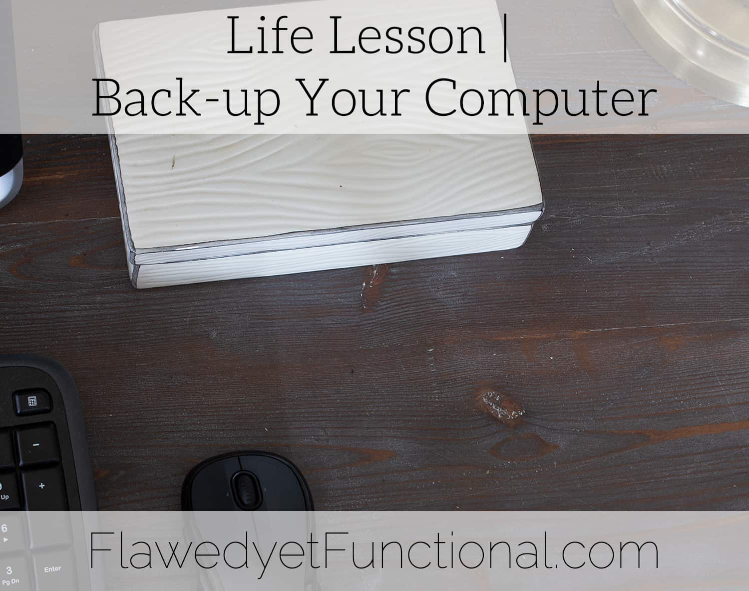 Back-Up Your Computer