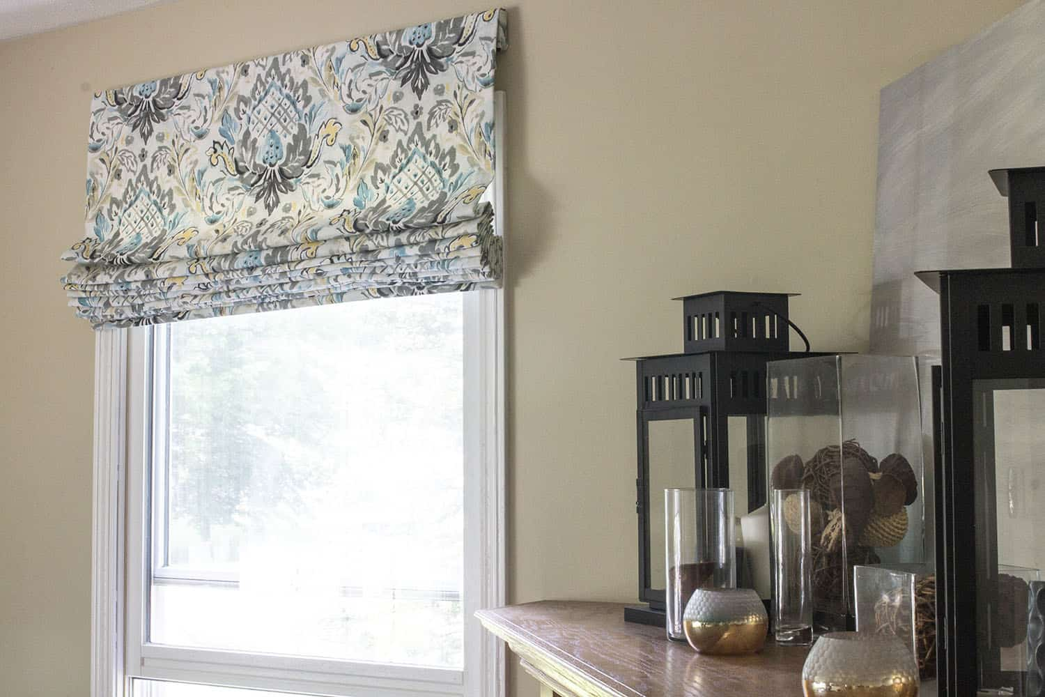 Window Treatment DIY | Flat Roman Shades Before & After