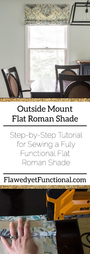 DIY Flat Roman Shade Tutorial