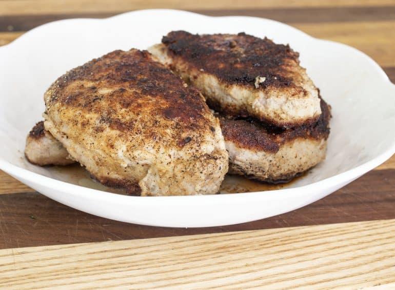 pan-fried sage pork chops