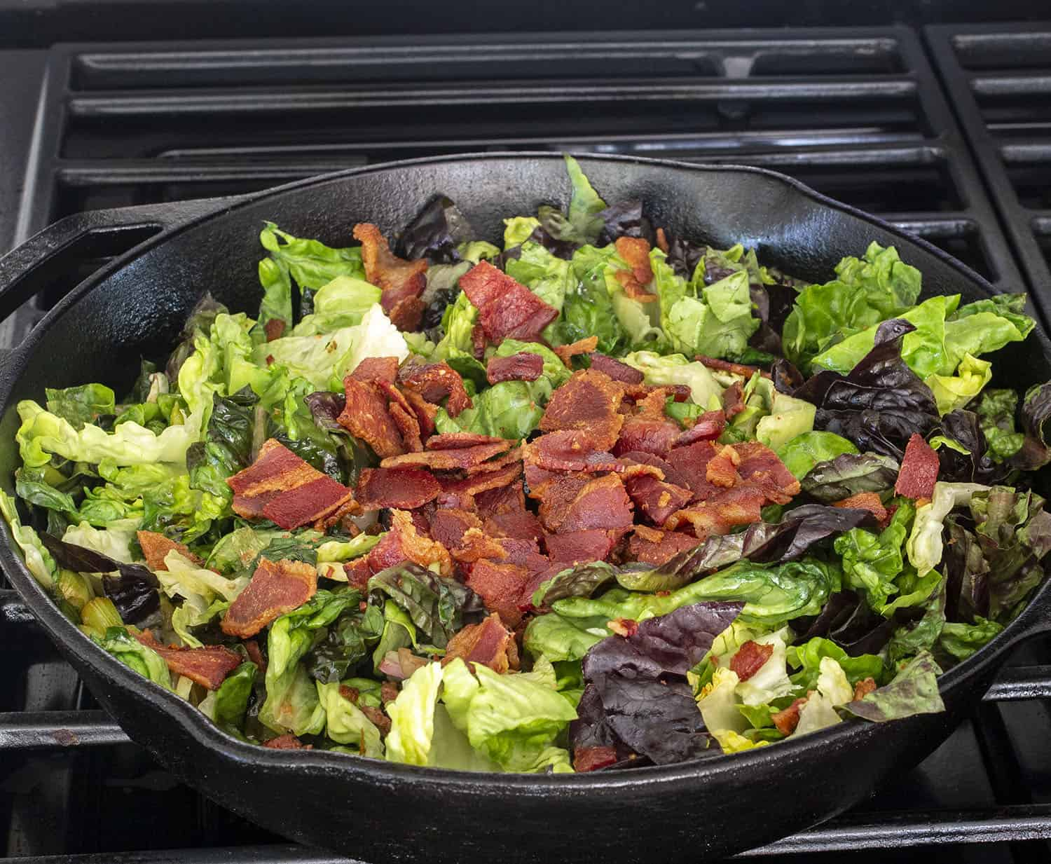 wilted bacon summer salad