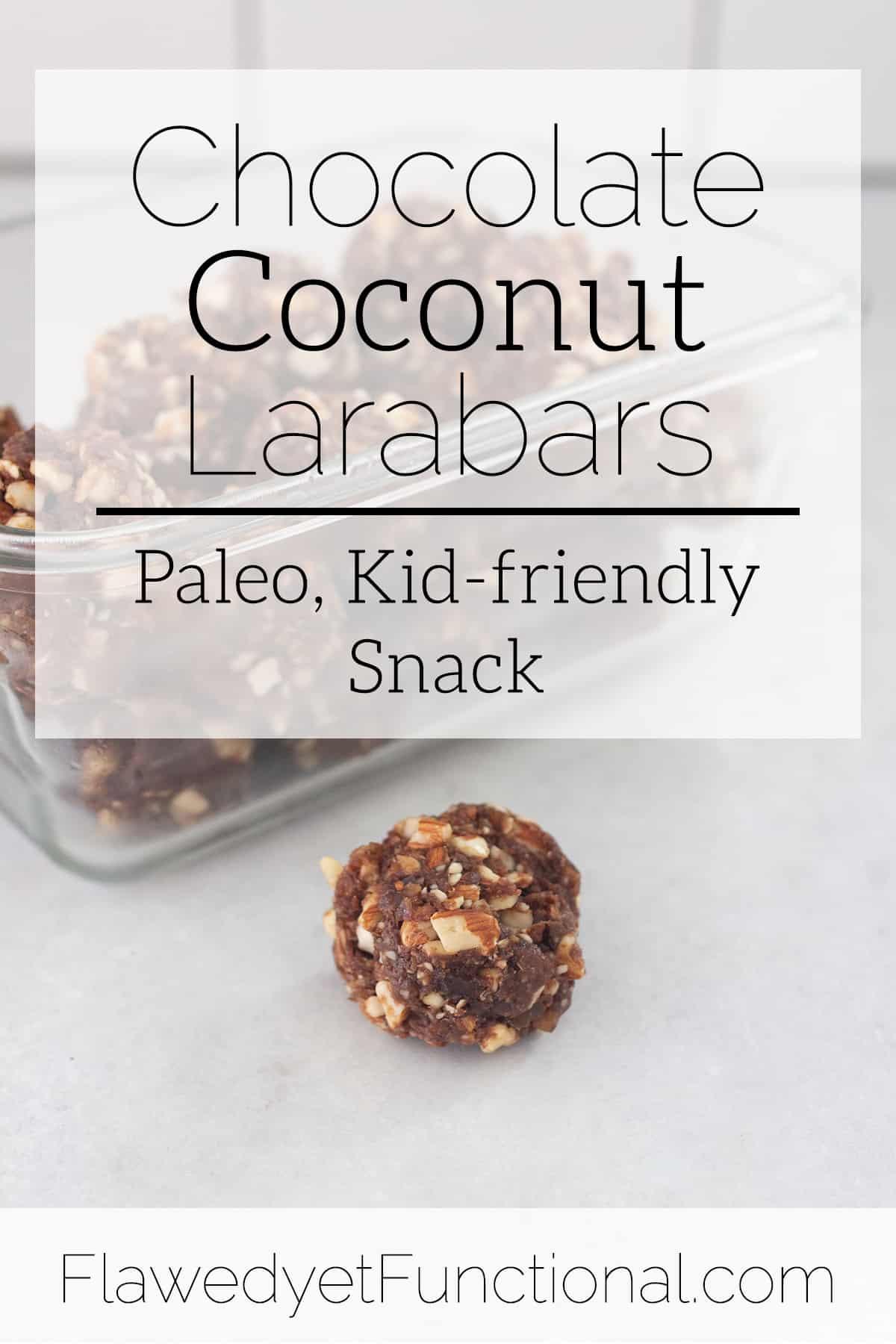 Chocolate Coconut Larabars | Kid-friendly Paleo Snack
