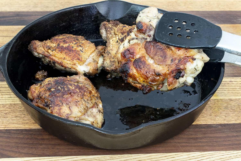 Sage & Thyme Crispy Chicken Thighs