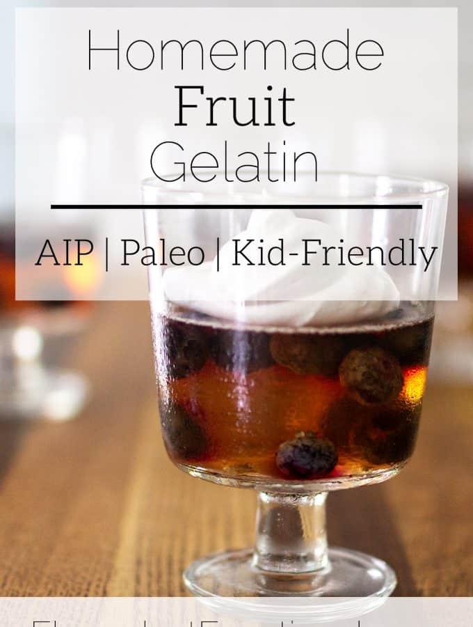 homemade fruit gelatin