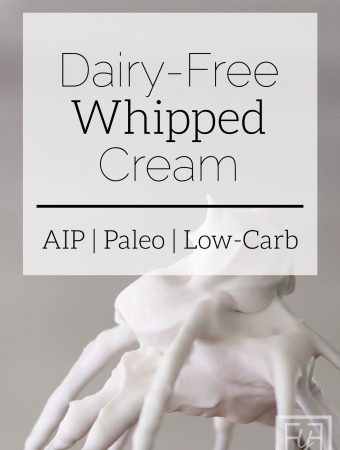 Dairy Free Whipped Cream | AIP, Paleo, and Low-Carb