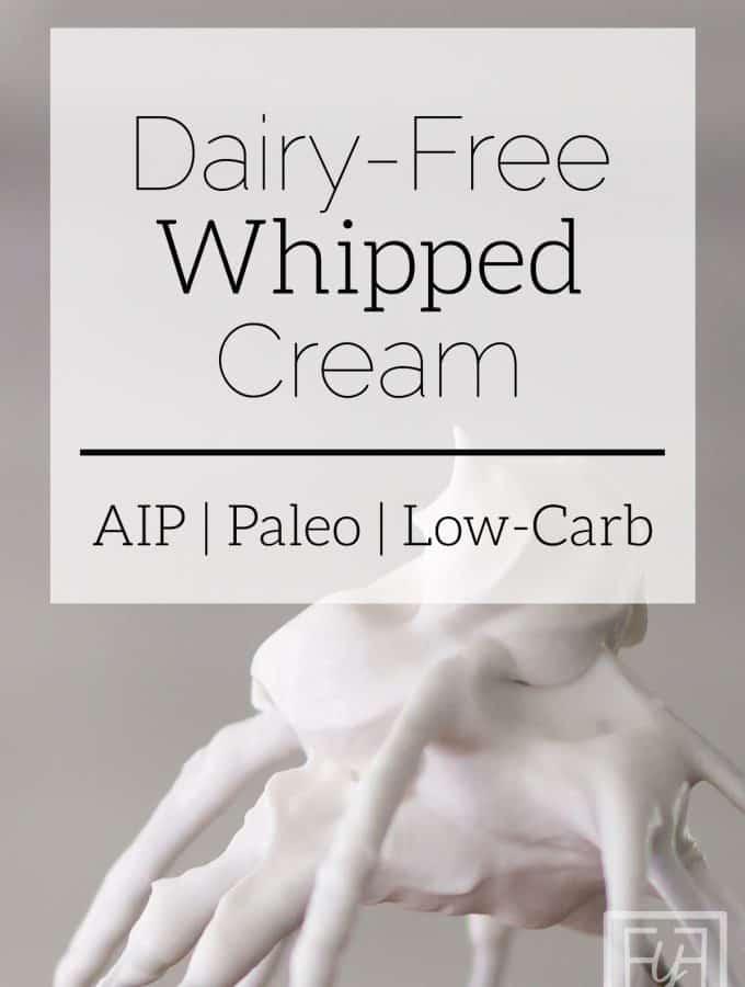 dairy free whipped cream