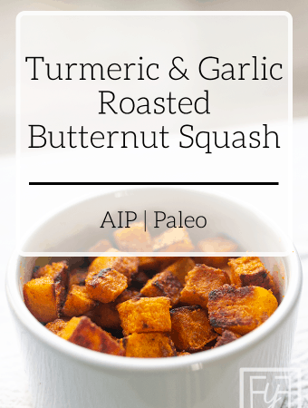 Turmeric Garlic Roasted Butternut Squash