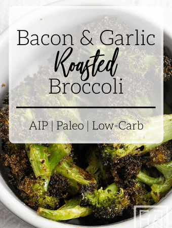 Bacon Garlic Roasted Broccoli